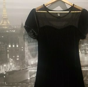 Black velvet and lace dress from Hot Topic (L)